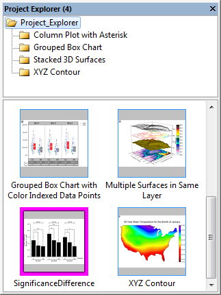 The interface of Project Explorer.