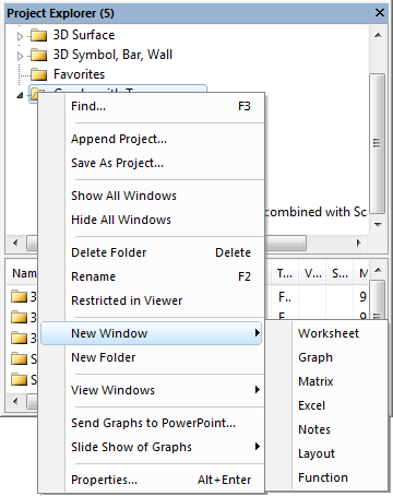 The context menu of folder in Project Explorer shows the options for helping you organize the contents.