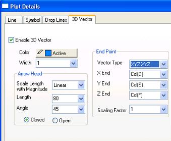 Plot Details dialog controls