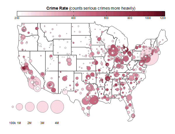 Originlab GraphGallery - Is there a color coded map of us crime